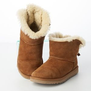 UGG Mini Bailey Bow Brown Genuine Sheepskin Boots
